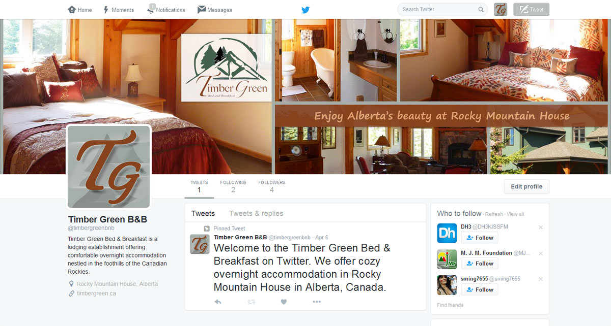 Timber Green Bed & Breakfast on Twitter